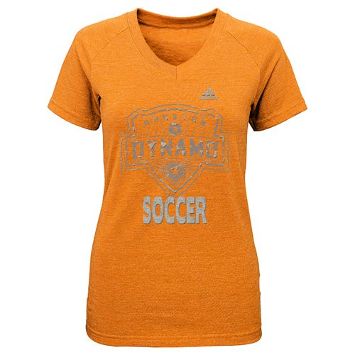 adidas™ Girls' Houston Dynamo Liquid Silver Shine T-shirt