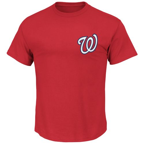 Majestic Men's Washington Nationals Michael Taylor #3 Logo T-shirt - view number 2