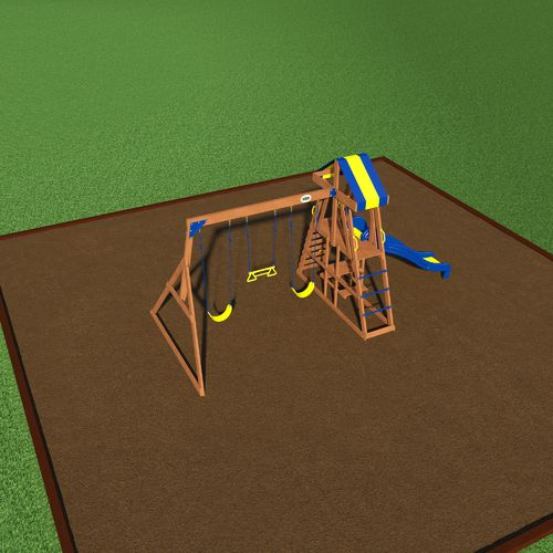 Backyard Discovery™ Yukon III Wooden Swing Set - view number 3