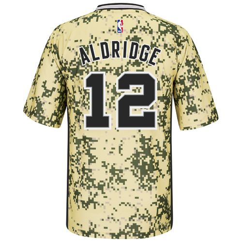 adidas Men's San Antonio Spurs LaMarcus Aldridge No. 12 Camo Replica Jersey