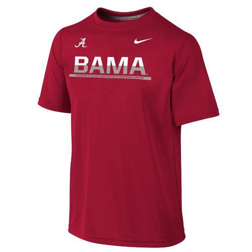 Nike™ Boys' University of Alabama Dri-FIT Legend Short Sleeve T-shirt