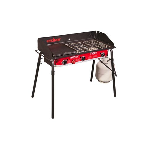 Display product reviews for Camp Chef Tahoe 3-Burner Propane Camp Stove with Griddle