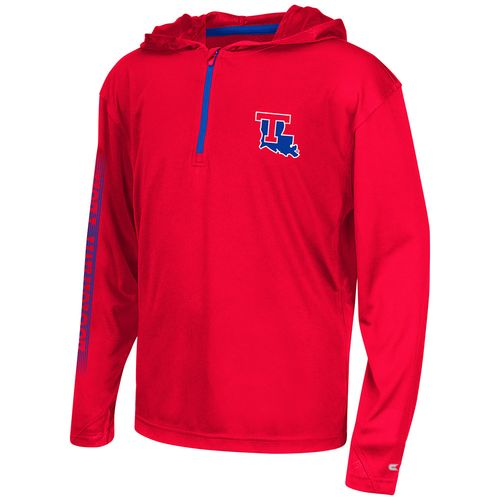 Colosseum Athletics™ Boys' Louisiana Tech University Sleet 1/4 Zip Hoodie Windshirt