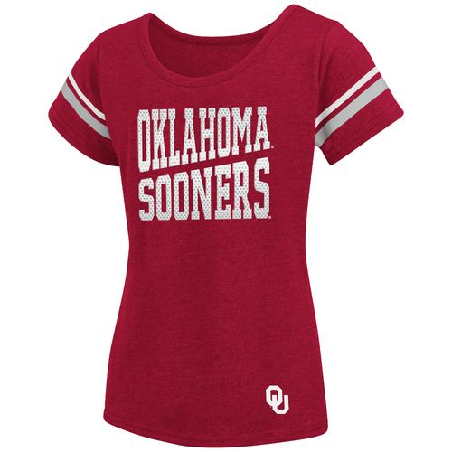 Colosseum Athletics™ Girls' University of Oklahoma Fading Dot T-shirt