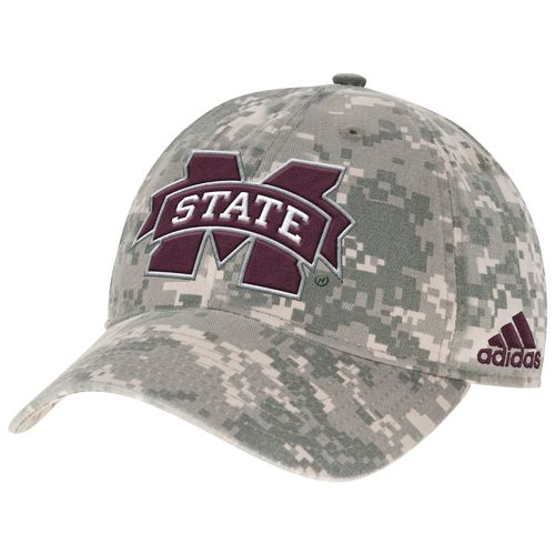 adidas™ Men's Mississippi State University Digital Camo Adjustable Slouch Cap
