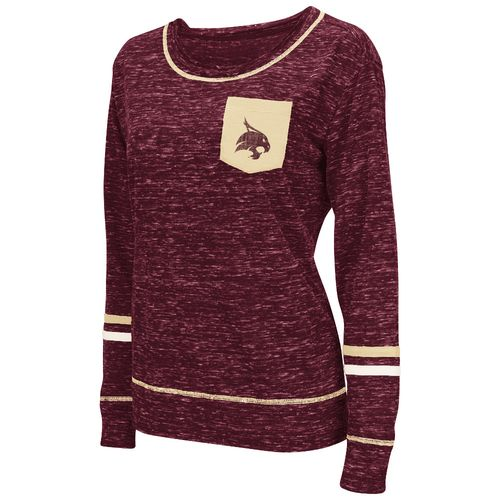 Colosseum Athletics™ Women's Texas State University Homies Raw Edge Pocket T-shirt