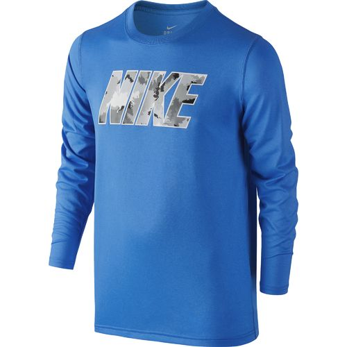 Nike Boys' Block Camo Long Sleeve T-shirt