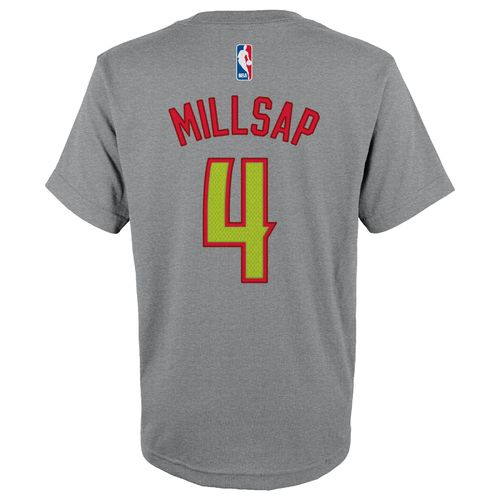 adidas™ Boys' Atlanta Hawks Paul Millsap #4 High Definition T-shirt