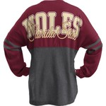 Three Squared Juniors' Florida State University Varsity Script Logo Sweeper T-shirt