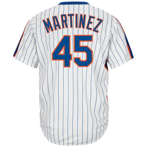 Majestic Men's New York Mets Pedro Martinez #45 Cool Base Cooperstown Jersey