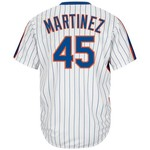 Majestic Men's New York Mets Pedro Martinez #45 Cool Base Cooperstown Jersey - view number 1