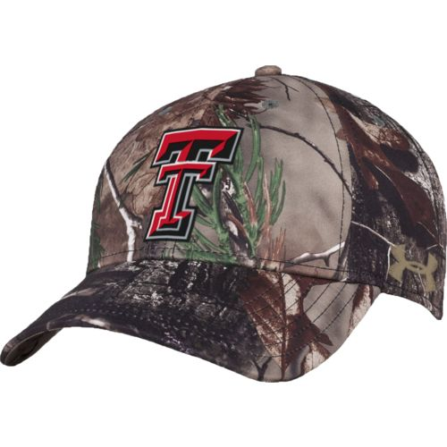 Under Armour™ Men's Texas Tech University Realtree Camo Flex Cap - view number 4
