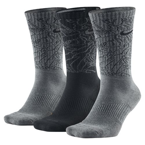Nike Adults' Dri-FIT Topo Camo Crew Training Socks 3-Pair