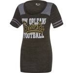 5th & Ocean Clothing Juniors' New Orleans Saints Script Fan T-shirt