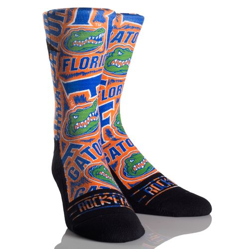 Rock 'Em Apparel Men's University of Florida Logo Sketch Socks