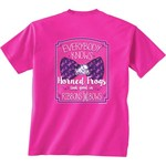 New World Graphics Women's Texas Christian University BCA Ribbon T-shirt