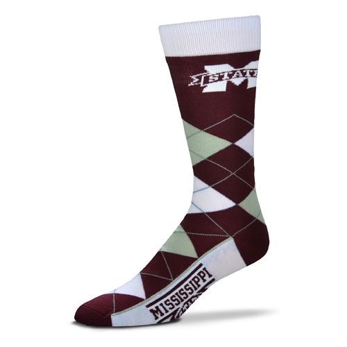 For Bare Feet Adults' Mississippi State University Team Pride Flag Top Dress Socks