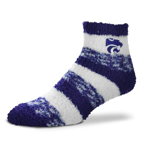 FBF Originals Women's Kansas State University Pro Stripe Sleep Soft Socks