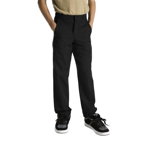 Dickies Boys' Classic Fit Straight Leg Flat Front Uniform Pant