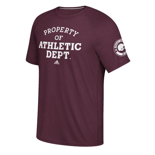 adidas™ Men's Texas A&M University Equipment Manager climalite® Ultimate Short Sleeve