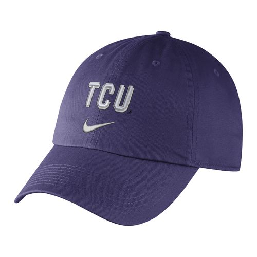 Nike Men's Texas Christian University Heritage86 Wordmark Swoosh Flex Cap