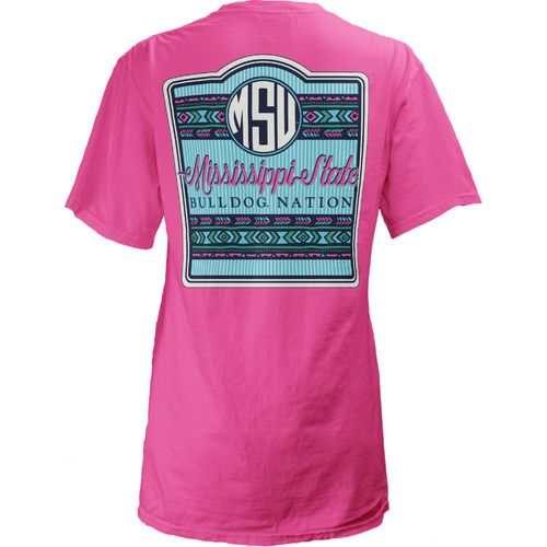Three Squared Juniors' Mississippi State University Baylee V-neck T-shirt