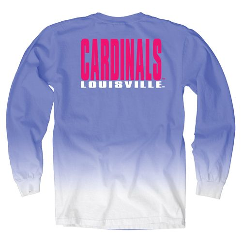 Blue 84 Women's University of Louisville Ombré Long Sleeve Shirt