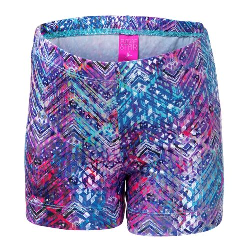 Capezio Girls' Future Star Wet N' Wild Brushstrokes Allover Printed Short