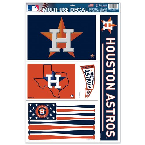 WinCraft Houston Astros Multiuse Decals 5-Pack