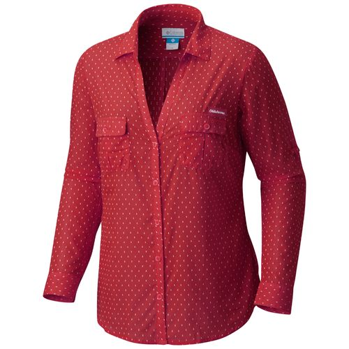 Columbia Sportswear Women's University of Oklahoma Sun Drifter Button Down Shirt