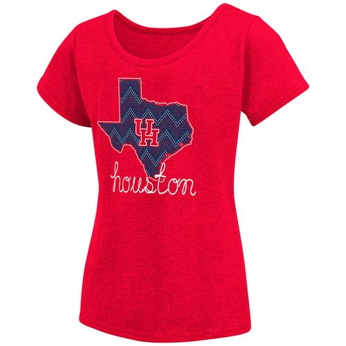 Colosseum Athletics™ Girls' University of Houston Tissue 2017 T-shirt