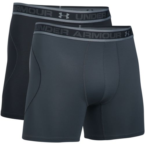 Under Armour Men's Iso-Chill Mesh 6 in Boxerjock Boxers 2-Pack