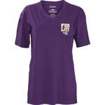 Three Squared Juniors' Louisiana State University Team For Life Short Sleeve V-neck T-shirt - view number 2