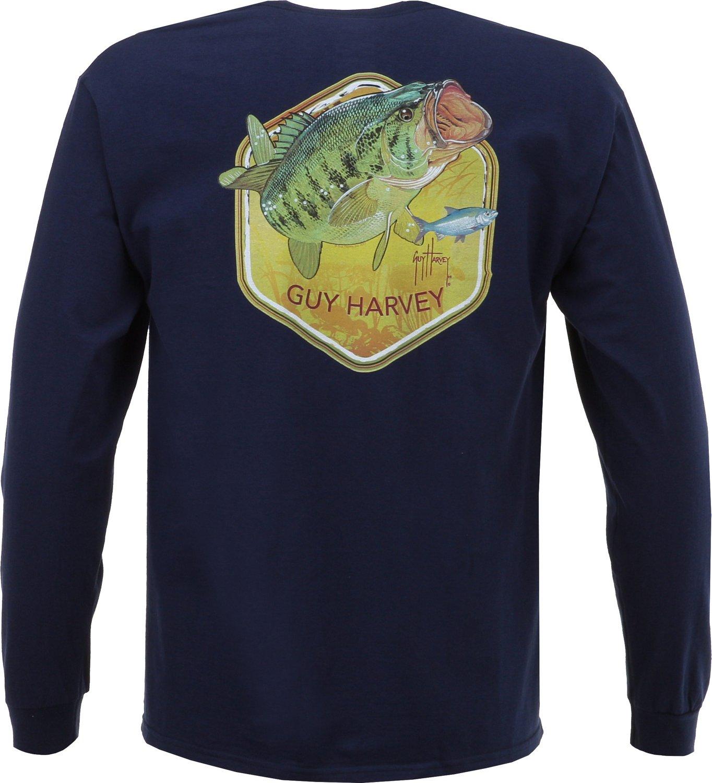 Guy Harvey Men 39 S Lancer Long Sleeve Pocket T Shirt Academy