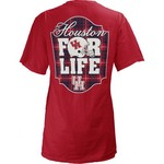 Three Squared Juniors' University of Houston Team For Life Short Sleeve V-neck T-shirt - view number 1