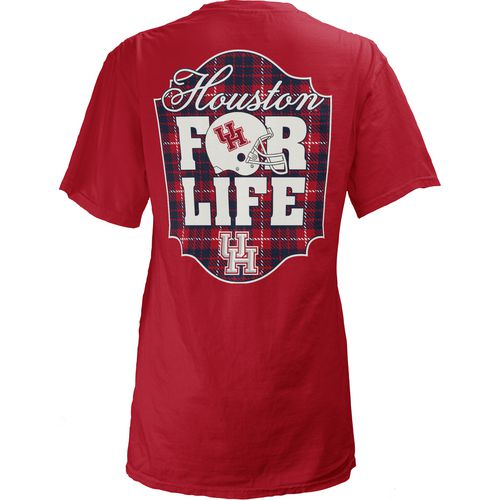 Three Squared Juniors' University of Houston Team For Life Short Sleeve V-neck T-shirt