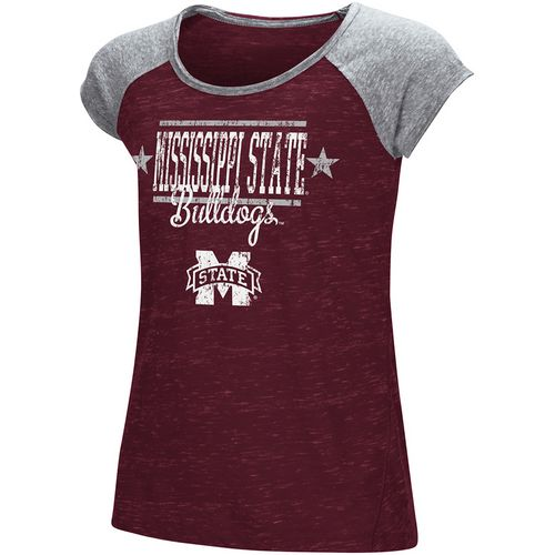 Colosseum Athletics Girls' Mississippi State University Sprints T-shirt