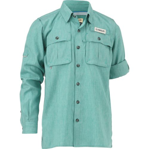 Magellan Outdoors Boys' Long Sleeve Aransas Pass Shirt