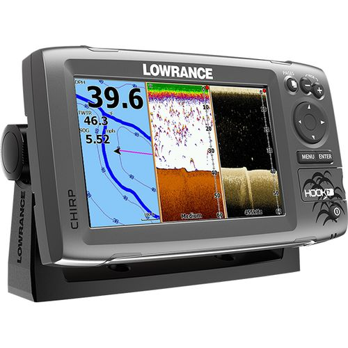 Lowrance hook 7 mid high downscan fishfinder chartplotter for Academy fish finder