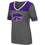 Colosseum Athletics Women's Kansas State University Twist V-neck 2.3 T-shirt - view number 1