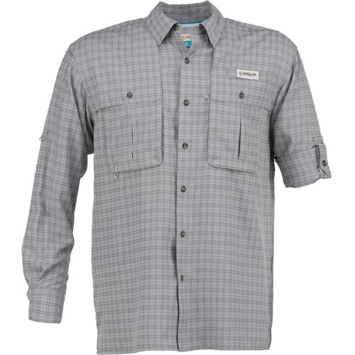 Display product reviews for Magellan Outdoors Men's Aransas Pass Tonal Plaid Long Sleeve Shirt