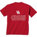 New World Graphics Women's University of Houston Comfort Color Initial Pattern T-shirt - view number 1
