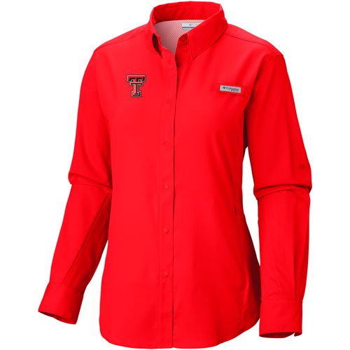 Columbia Sportswear Women's Texas Tech University Long Sleeve Tamiami PFG Shirt