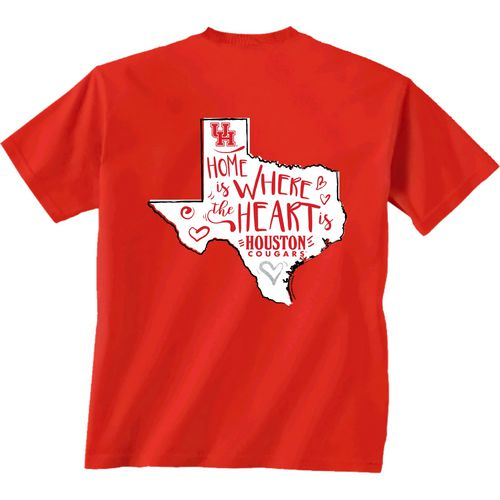 New World Graphics Girls' University of Houston Where the Heart Is Short Sleeve T-shirt - view number 1
