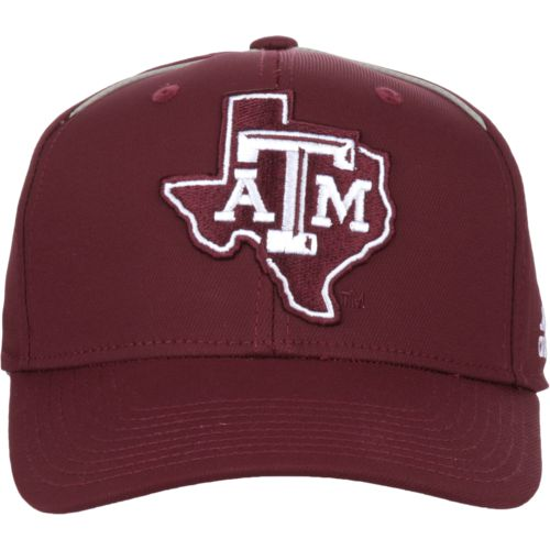 adidas Men's Texas A&M University Coach Structured Flex Cap