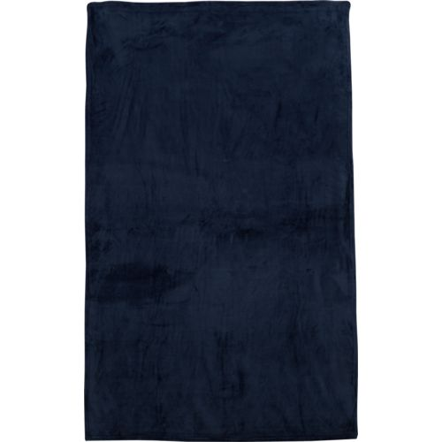 Alpine Lodge 50 in x 70 in Wolf and Navy Plush Throws 2-Pack