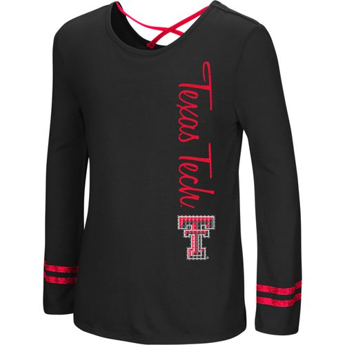 Colosseum Athletics Girls' Texas Tech University Marks the Spot Strappy Back Long Sleeve T-shirt