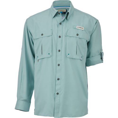 Display product reviews for Magellan Outdoors Men's Aransas Pass Mini Check Long Sleeve Fishing Shirt