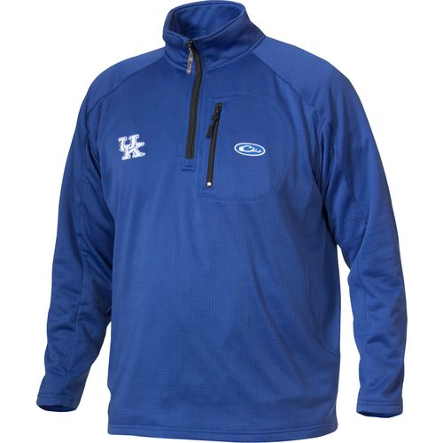 Drake Waterfowl Men's University of Kentucky Breathelite 1/4 Zip Pullover