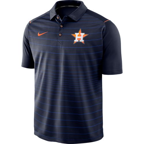 Nike Men's Houston Astros Stripe Polo Shirt